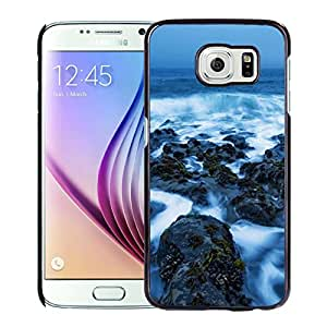 New Beautiful Custom Designed Cover Case For Samsung Galaxy S6 With Sea Rock Covered In The Mist Phone Case