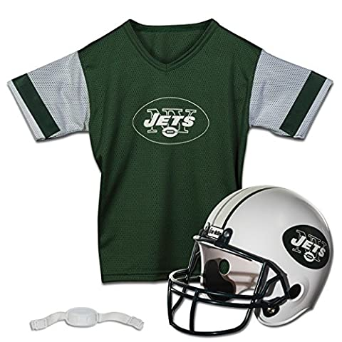 Franklin Sports NFL New York Jets Replica Youth Helmet and Jersey Set (Nfl Helmets Kids)