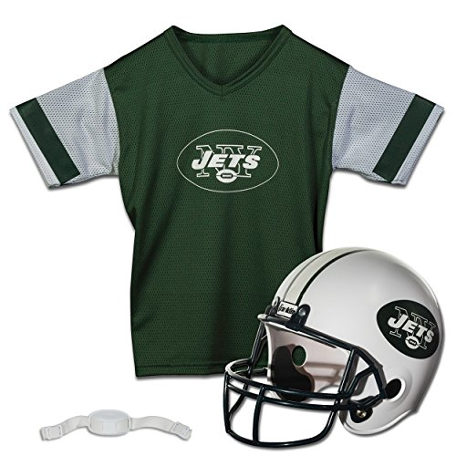 Franklin Sports NFL New York Jets Replica Youth Helmet and Jersey Set]()