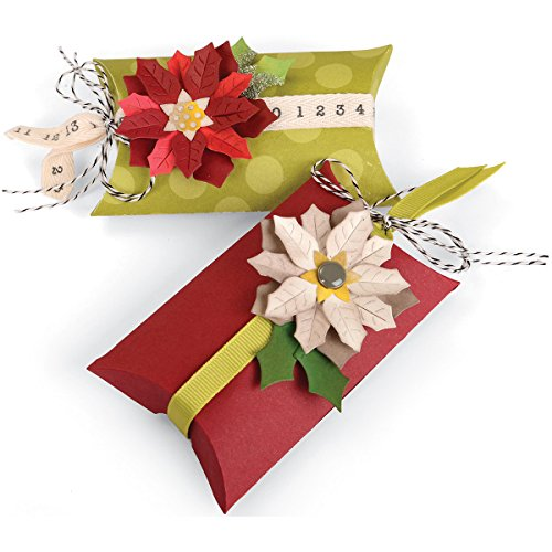 - Sizzix Winter Wishes Collection Christmas Thinlits Die Box Pillow and Poinsettias (2 Pack)