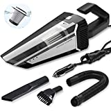 KUTIME Car Vacuum Cleaner, Strong Suction of 5000PA Super Powerful Handheld Vacuum Pet Hair Cleaner, with 16.4 Feet Power Cord,Wet and Dry, 12v AC Wired car Vacuum Cleaner, Suitable for car Cleaning
