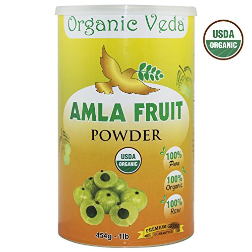 Organic Amla Fruit Powder - 1 Lb. ★ USDA Certified Organic ★ 100% Pure and Natural Super Food Supplement. Non GMO, Gluten FREE. All Natural!