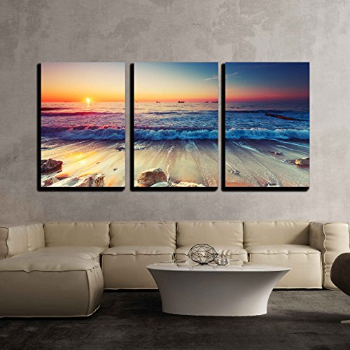 Beautiful Sunrise over the Horizon x3 Panels