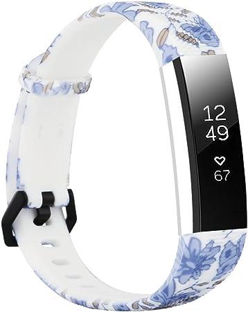 Imagen deFit-power - Correa de repuesto para reloj inteligente Fitbit Alta y Alta HR, ajustable, muy resistente, ideal para hacer deporte