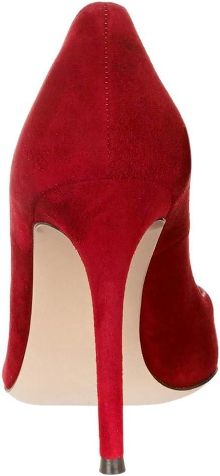 Kolnoo dames kant tenen hoge hak gesloten pumps maat rood