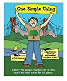 One Simple Thing: Sammy the Seagull teaches kids to take heart and take action for our planet, (Black and white coloring book)