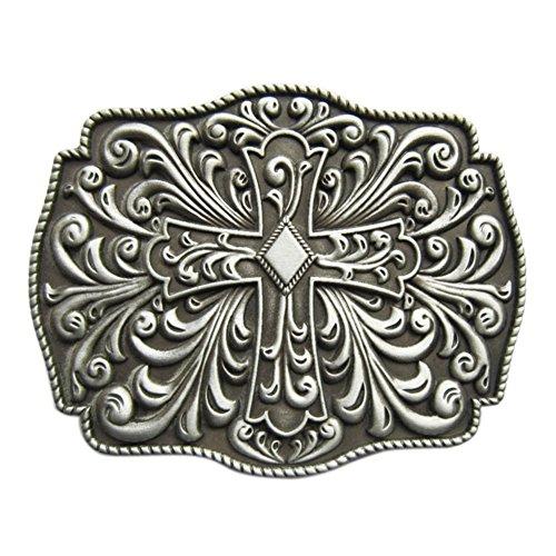 New Vintage Western Flowers Celtic Iron Cross Knot Belt - Belt Buckle Metal Cross