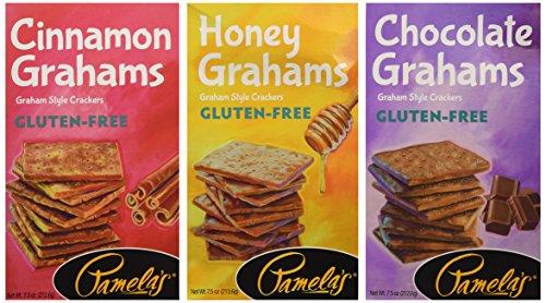 Pamelas Gluten-Free Graham Crackers Variety Pack (Chocolate, Cinnamon, -