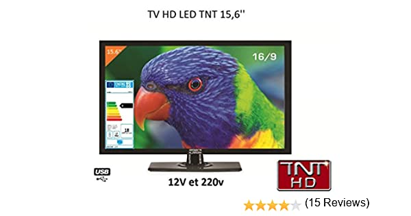 Antarion - Televisión HD LED de 39,6 cm para autocaravana, 220 V ...
