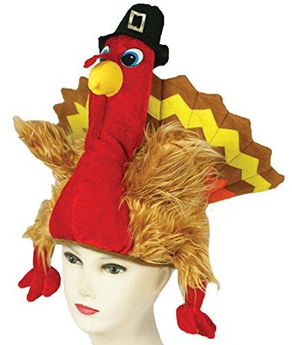 [UHC Women's TURKEY HAT Funny Comical Theme Halloween Costume Accessory] (Comical Halloween Costumes)