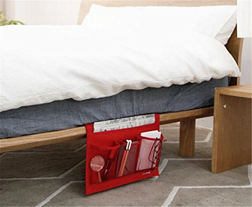 Gobuy Bedside Storage Bag Magzine Remote Glasses Oxford Mobile Phone Organizer