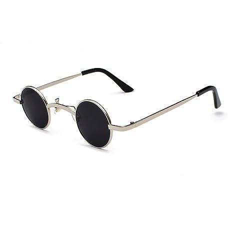 Gafas de sol redondas de Lennon, gafas de sol retro vintage Steampunk para hombres y mujeres UV400, gafas de sol indestructibles de metal para adultos ...