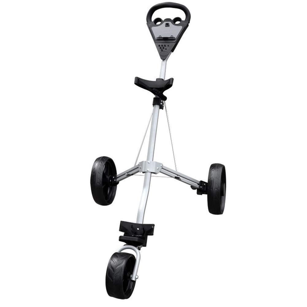ゴルフ三輪ゴルフカート、ブレーキセット、ゴルフクラブトロリー、折りたたみ式3輪プッシュカート B07T7FN8ND