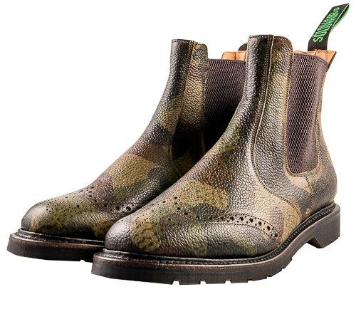 NPS - Zapatos de cordones de Piel para hombre verde camuflaje, color verde, talla 41 EU