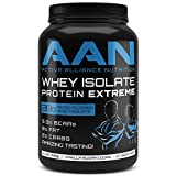 AAN's Amazing Tasting Whey Isolate Protein EXTREME- 28 Grams of Pure Whey Protein Iso, Zero Fat, Low Carbs, Meal Replacement, Weight Loss Shake (2lbs., Vanilla Sugar Cookie)
