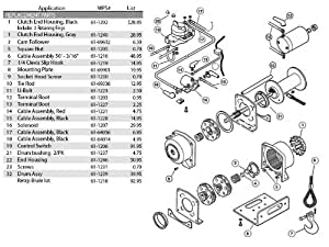 yamaha warn a2000 winch wiring diagram warn a2000 parts diagram amazon.com: warn atv winch solenoid for a2000 winch ...