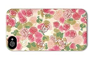 Hipster fashion iPhone 4 case rose buds art PC 3D for Apple iPhone 4/4S