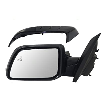 Drivers Power Side View Mirror Heated Signal Puddle Lamp W Blind Spot Detection Replacement For