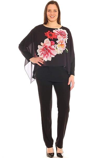 64d2d8032029 Completo Donna Elegante Caftano Fantasia e Pantalone Taglia conformata   Amazon.it  Abbigliamento