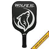 Wolfe XL Graphite Pickleball Paddle - White w/ Cover