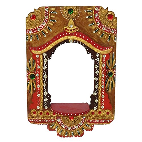 Indian touch Art Handcrafted Rajasthani Wooden Wall Jharokha Beautiful Decorative Jharokha for Home Office Living Room Bed Room Antique ()