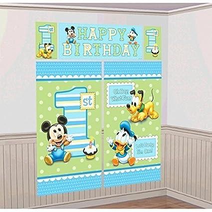 Amazon Com Amscan Disney Baby Mickey Mouse 1st Birthday Scene