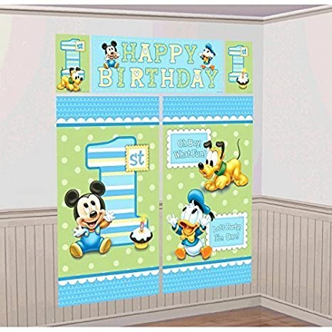 Amazoncom Amscan Disney Baby Mickey Mouse 1st Birthday Scene