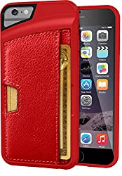 iPhone 6 Wallet Case - Q Card Case for iPhone 6 (4.7) by CM4 - Ultra Slim Protective Carrying Case (Red Rouge)