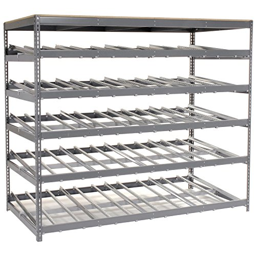 5 Level Carton Flow Shelving, Single Depth, 96