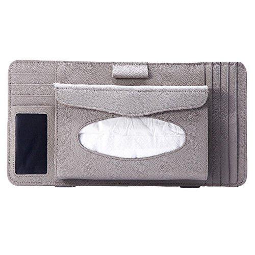 Multi-functions CD Visor Tissue CD Holder/wallet/organizer for Car (Gray)