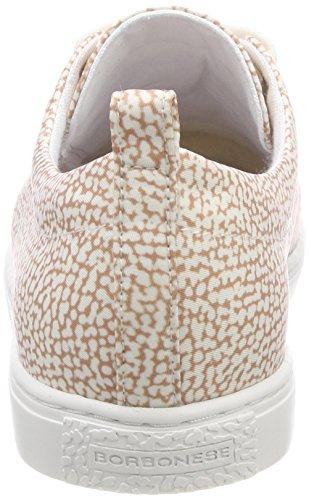 Borbonese 6dh983d01, Zapatillas de Tenis Mujer Beige