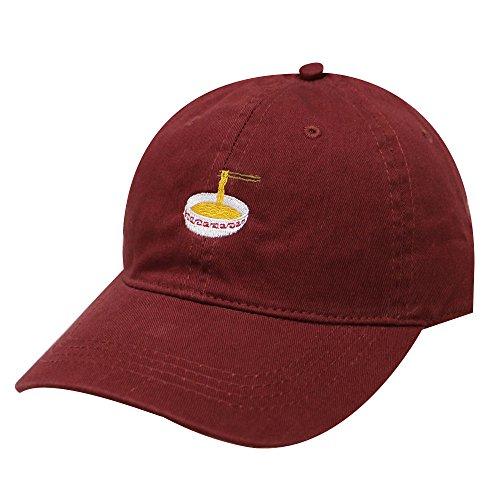 City Hunter C104 Noodles Cotton Baseball Dad Caps 17 Colors (Burgundy)