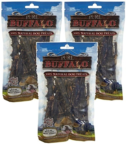 (3 Pack) Pure Buffalo Buffalo Meat Strips - 3.5 oz ()