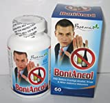 01 Box x 60 Capsules BoniAncol - Reduce Cravings Alcoho, Drug, Other Addictive - BoniAncol Botania Reduces Alcohol Addict Other Addictive
