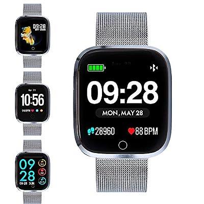 Bracelet Activity Tracker, Waterproof Smart Fitness Watch HD Screen Fitness Tracker with Pedometer/Heart Rate & Blood Pressure Monitor/SNS Alert/GPS Running Map