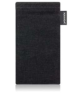 Funda para móvil yomix FUNDA Stella gris para Nokia Lumia 920 PureView, textil, con función de limpieza gracias a su forro interior de microfibra