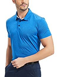 Dry Fit Polo Shirts for Men Golf Wicking Performance Royal Blue S