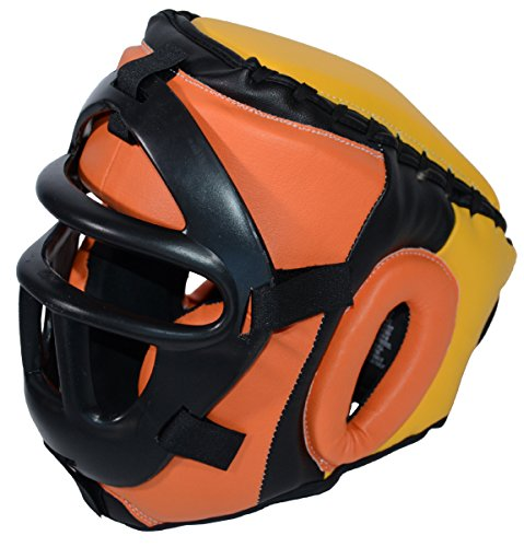 Removable Safety Mask Training Headgear for Boxing, Muay Thai, MMA, Kickboxing - Youth and Adult size (Large/X-Large (22.5