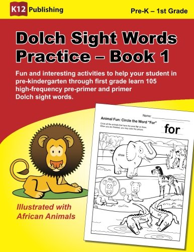 Halloween Worksheet First Grade (Dolch Sight Words Practice - Book 1: Fun and interesting activities to help your student in pre-kindergarten through first grade learn 105 high-frequency pre-primer and primer Dolch sight)