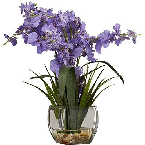 (Charlton Home Liquid Illusion Dancing Lady Orchid in Purple with Clear Vase)