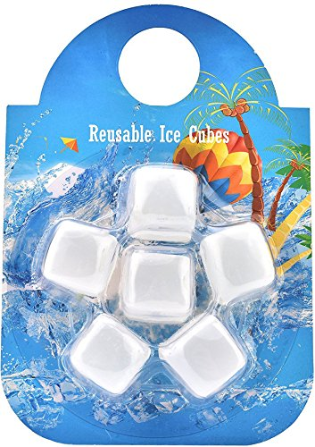 White Liqueur - BOTTLED JOY Chilling Ice Cube, Reusable Ice Cubes BPA Free Ice Cooler FDA approved Cooling Ice Stones for Whiskey Wine Vodka Liqueurs White Wine Beer Beverage Scotch Soft Drinks and more, Set of 6