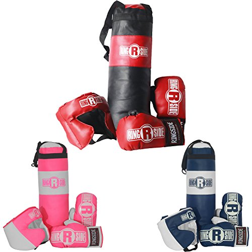 Ringside Youth Kids Boxing Kit Training Bag Set Punching Bag Gloves Heavy Bag Bundle