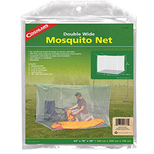 - Coghlan's Double Wide Rectangular Mosquito Net, White
