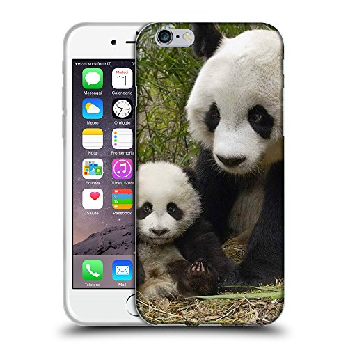Just Phone Cases Coque de Protection TPU Silicone Case pour // V00004109 ours panda mignon avec cub // Apple iPhone 6 6S 6G PLUS 5.5""
