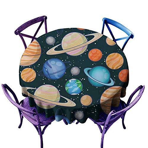 Zodel Fashions Table Cloth,Galaxy Cute Galaxy Space Art Solar System Planets Mars Mercury Uranus Jupiter Venus Kids Print,Modern Minimalist,35 - Table Modern Side Jupiter