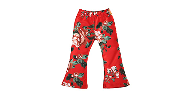 Girls Culottes Toddler Bell Bottoms Palazzo Pants  Toddler Pants My Little Pony  Floral Print 2T