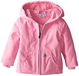 Carhartt Baby Girls\' Redwood Jacket, Rosebloom, 6 Months