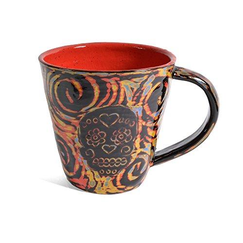 John Hutson Pottery Sugar Skull Mug,