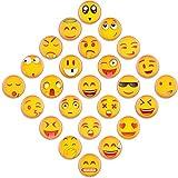 MORCART Fridge Magnets 25PCS Premium Emoji 3D Refrigerator Magnets For kitchen Refrigerators, Whiteboards -0.98 X 0.07 mm