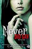 Never Did Say: A New Adult Romance (Tasting Never Book 6)